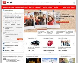 Bahn.de - German Train Ticket Website