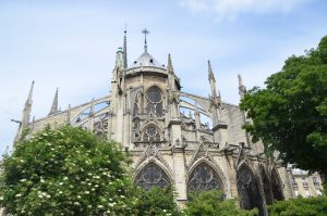Flying Buttresses at the Notre Dame Cathedral, Paris