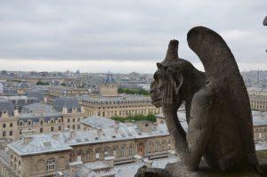Gargoyle Keeping Away Evil Spirits, Notre Dame Cathedral, Paris