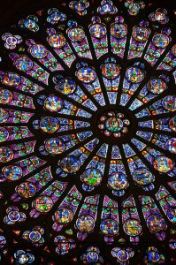 Center of the North Rose Window, Notre Dame Cathedral, Paris