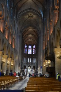 Nave of the Notre Dame Cathedral, Paris