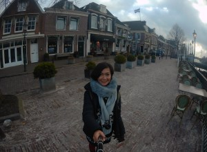 Strolling around Amsterdam on a winter