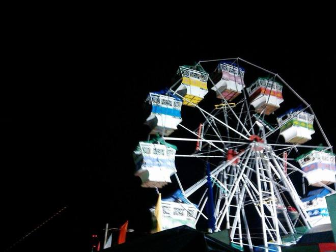 The not so scary ferris wheel ride