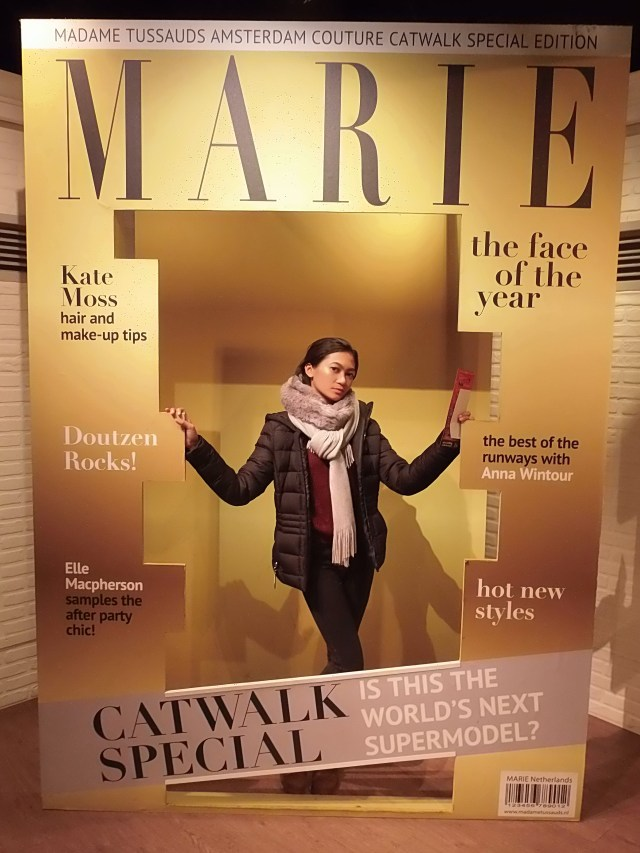 Marie for the catwalk special at Madame Tussauds