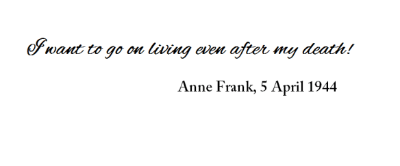 Anne Frank quote death