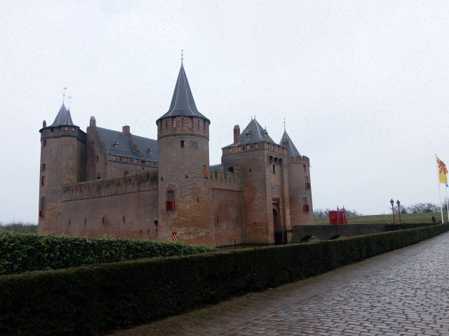Castle Muiderslot view from the side