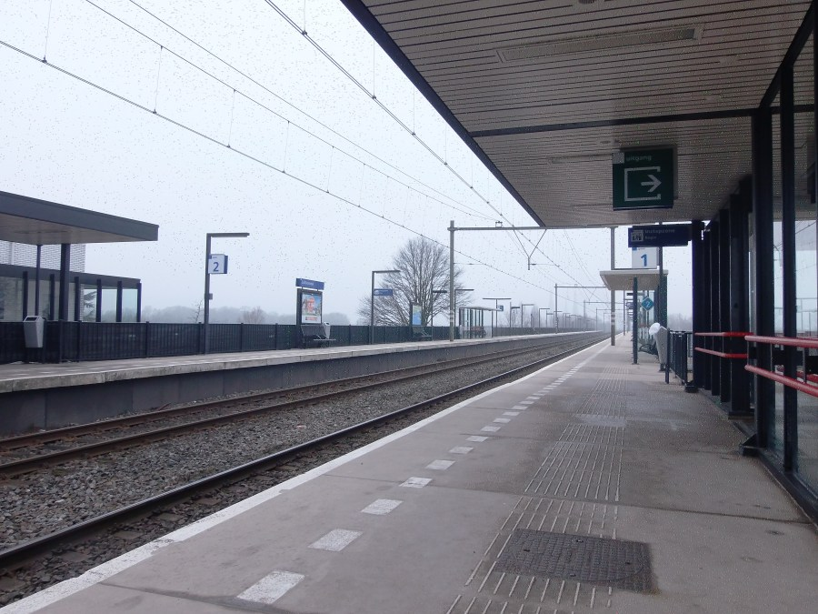 Train station in Zaltbommel, Netherlands