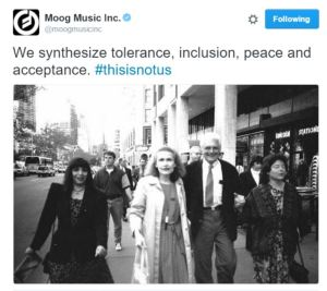 Moog responded to NC Anti-LGBT law by posting a picture of Wendy Carlos and Bob Moog, who were lifelong friends.