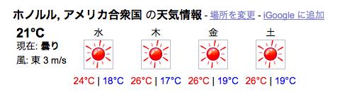 Google 天気 都市名を入力