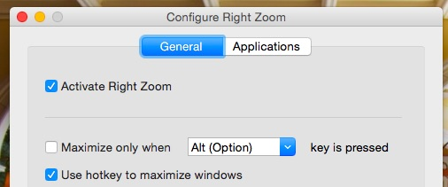 Configure Right Zoom