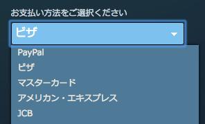 PayPal / ビザ / マスターカード