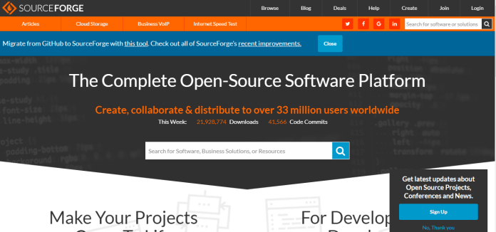 sourceforge-home