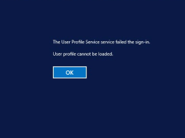 User Profile Cannot be loaded