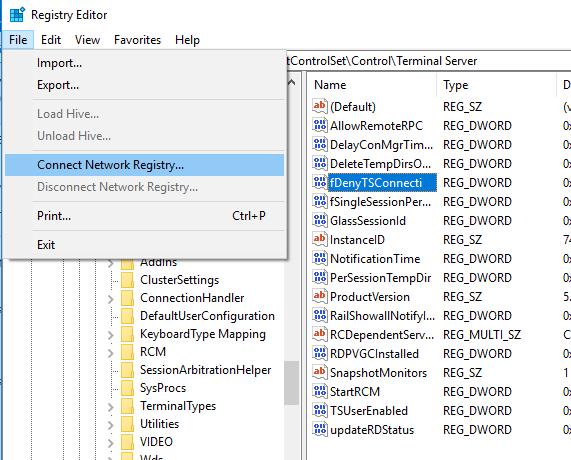 Remote Registry