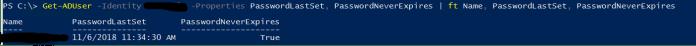 Password Information