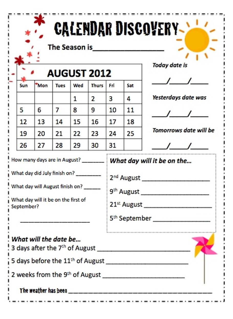 35 Reading A Calendar Worksheet - Worksheet Resource Plans [ 1249 x 911 Pixel ]