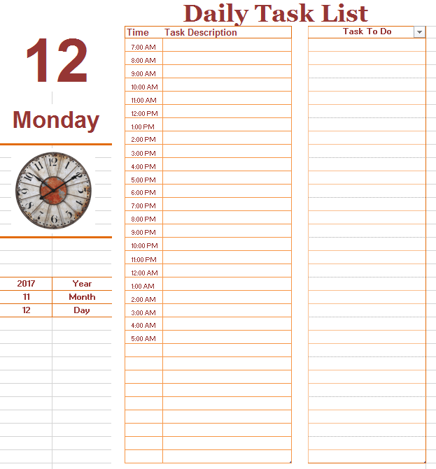 daily weekly monthly to do list template