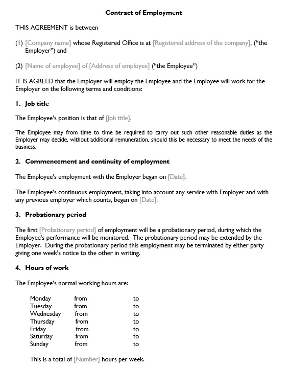 Free Restrictive Covenants For Employment Agreement Template