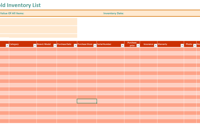 printable inventory lists archives ms office documents