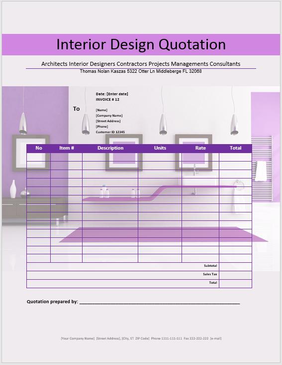 microsoft office quotation templates