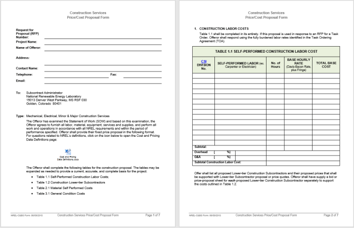 15+ Free Business Proposal Templates - MS Office Documents