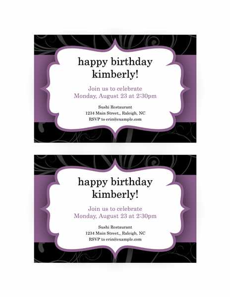 Download All These Free 40th Birthday Party Invitation Templates That Can Easily Help You To Prepare Your Own Effectively