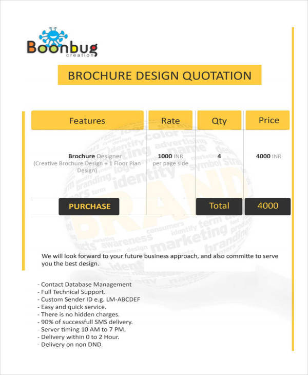16 free design quotation templates ms office documents. Black Bedroom Furniture Sets. Home Design Ideas
