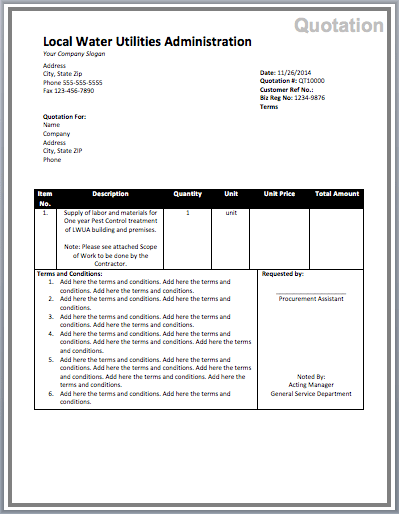 15+ Free Pest Control Quotation Templates - MS Office Documents