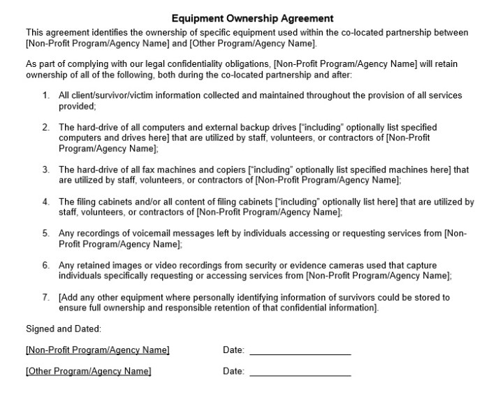 17 Free Equipment Placement Agreement Templates Ms Office Documents