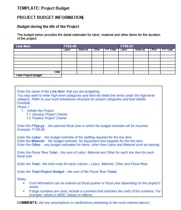 21 Free Project Budget Templates Ms Office Documents