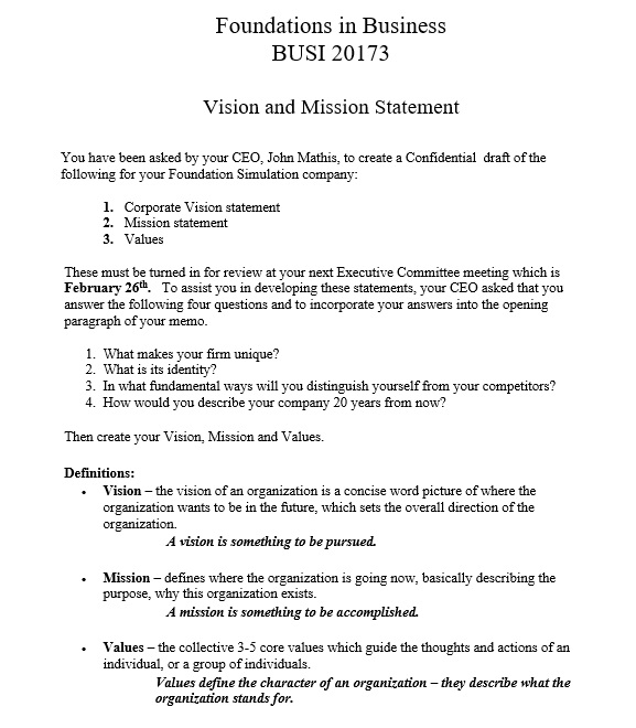 17 Free Vision Statement Templates Ms Office Documents