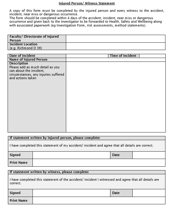 19+ Free Witness Statement Templates - MS Office Documents