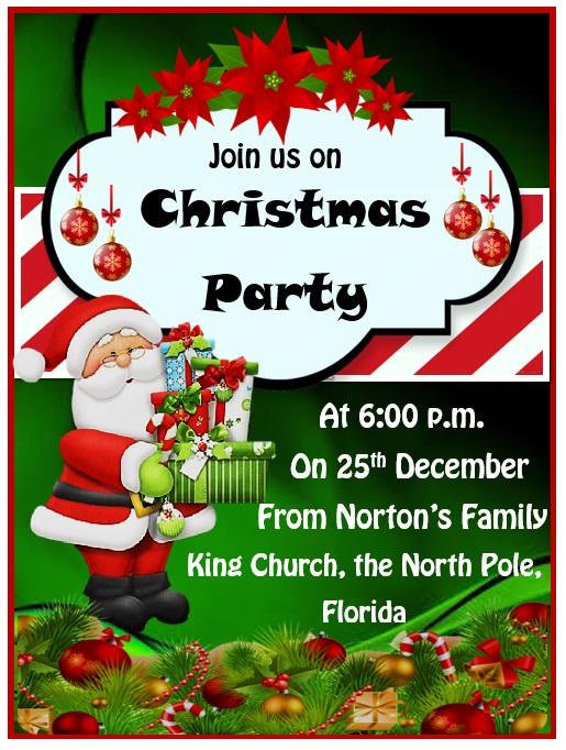 Christmas Invitation Templates.15 Free Christmas Party Invitation Templates Ms Office