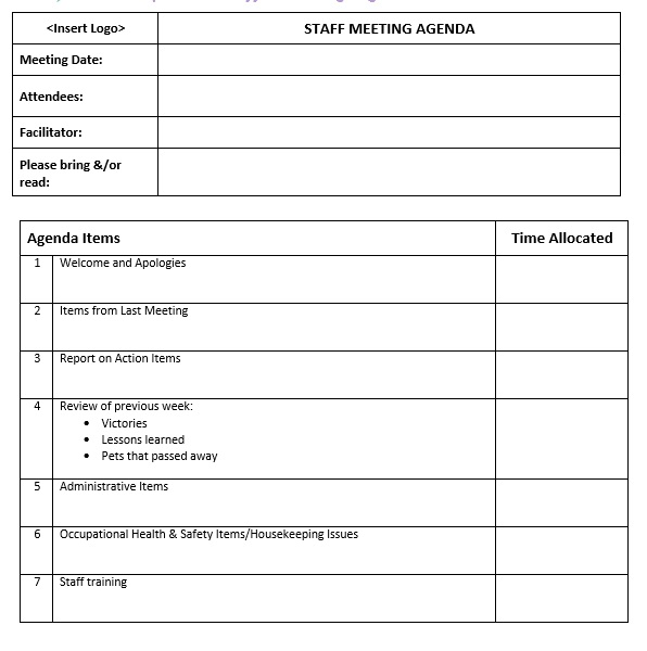 17  free monthly meeting agenda templates