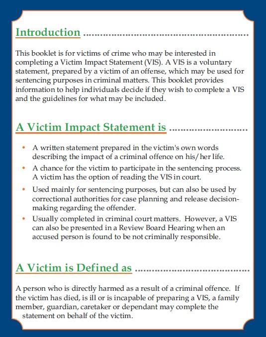 free victim impact statement template  17 templates