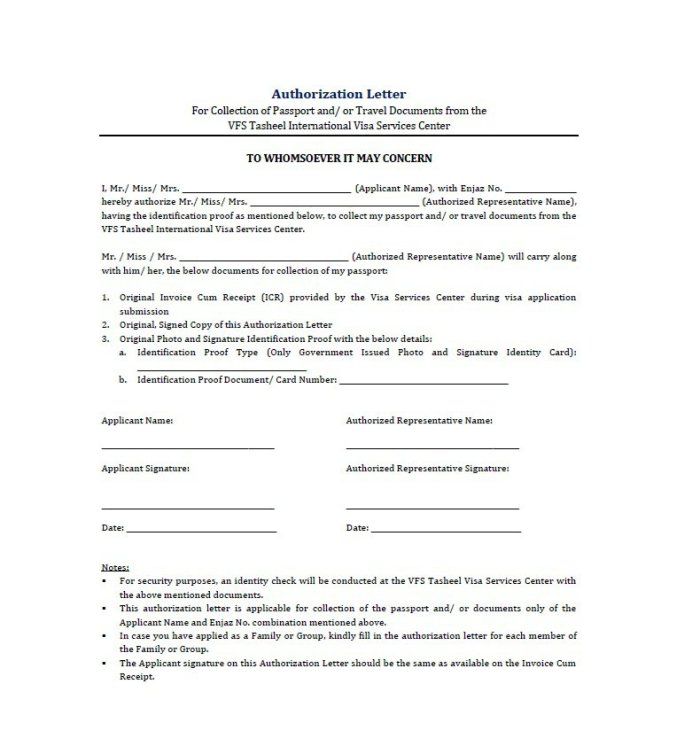 31 free authorization letter samples