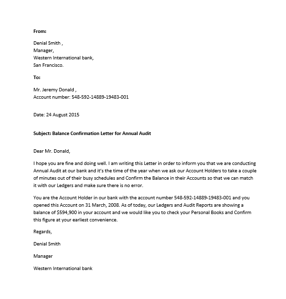 11 free sample confirmation letters