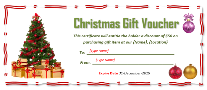Christmas Gift Certificate Template Free.9 Free Christmas Gift Certificate Templates Using Ms Word