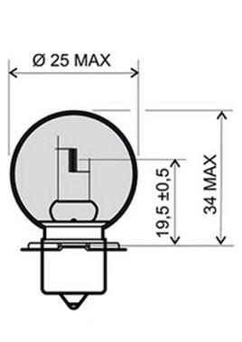 Forlygtepære 12v-15w RMS