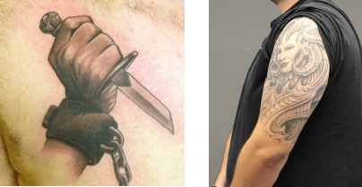 LEWIS, GREGORY--Tattoos