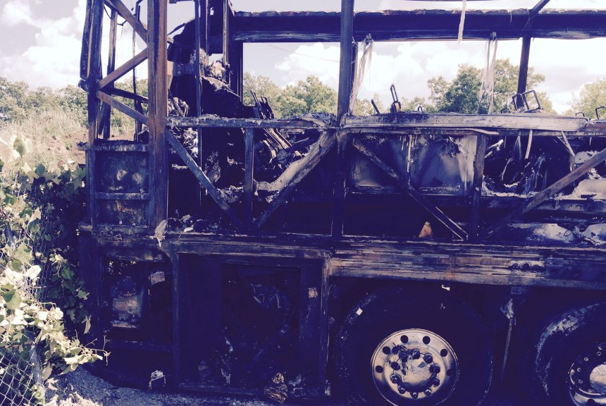 Bus fire Hopkinton-2, 6-22-15
