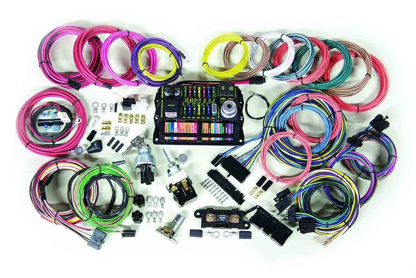 hight resolution of details about american autowire wiring system 22 power outlets gm color code kit p n 500695