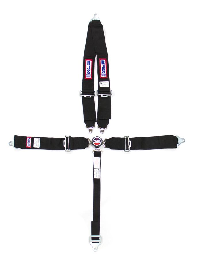 RJS SAFETY Black Bolt-On 5 Point Cam Lock Harness P/N