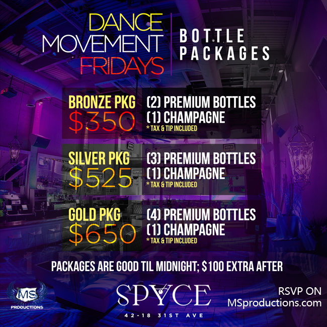 Spyce Astoria Bottle Packages
