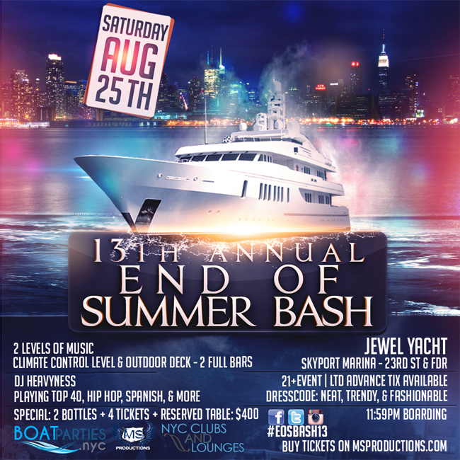 NYC Boat Party - End of Summer Bash