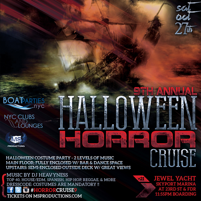 Horror Cruise 9 - 2 level Halloween Costume boat party