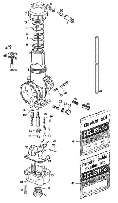 Dellorto VHSB carburetors and parts