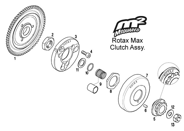 Rotax Max FR125 clutch assembly