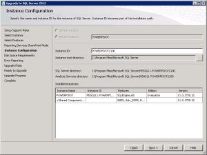SQL Server 2012 Upgrade RC0 to RTM Instance Configuration