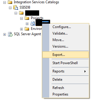 SSMS - Export SSIS Project